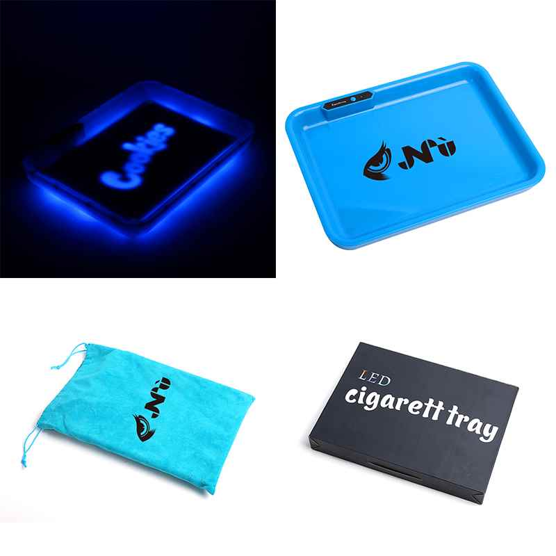 Vaping Accessory LED Tobacco Tray Cigarette Tray for Dry Herb Tobacco Rolling Tray Glowing LED Tray